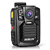 Body Worn Camera with Audio, BOBLOV 1926P Police Body Cameras for Law Enforcement, Security Guard, Waterproof Body Mounted Cam DVR Video IR with Night Vision, 170° Wide Angle (Built in 64GB)