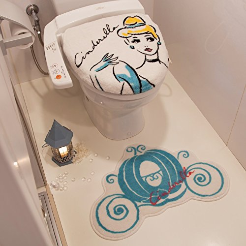 New Disney Princess Cinderella Cute Toilet Cover & Toilet Mat From Japan