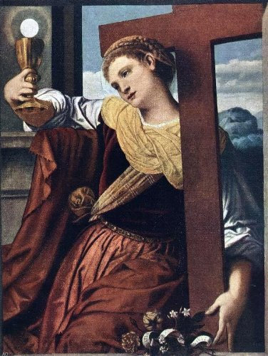 Moretto Da Brescia Allegory of Faith - 24'' x 32'' 100% Hand Painted Oil Painting Reproduction by Art Oyster