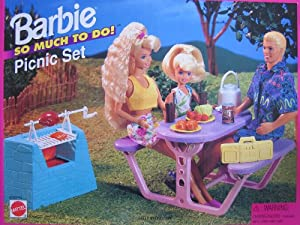 Amazon Com Barbie So Much To Do Picnic Set W Barbecue