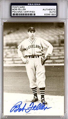 Bob Feller Autographed Signed 3.5x5.5 Postcard Cleveland Indians #83961893 PSA/DNA Certified MLB Cut Signatures
