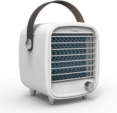 Erosffs Acondicionador de Aire del refrigerador de Aire, LED portátil de Aire Acondicionado pequeño USB de Escritorio de refrigeración Incorporado en la Caja de Hielo del Ventilador de Ministerio del: Amazon.es: Hogar