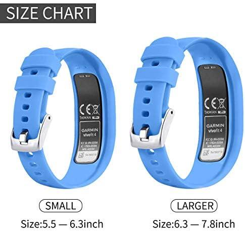 Ansblue Correa Compatible para Garmin Vivofit 4 Correa, Smooth Silicone Replacement Wristbands Correa Compatible para Garmin Vivofit 4, Pulsera Mujer Hombre Strap: Amazon.es: Deportes y aire libre