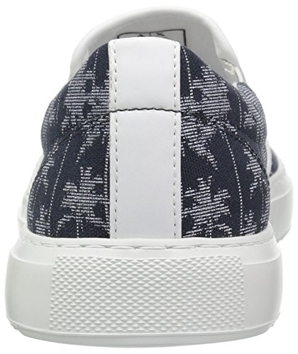 Armani Tropical Printed Exchange Tropical Canvas Navy A X Men Sneaker Slip 4z5xwZqI