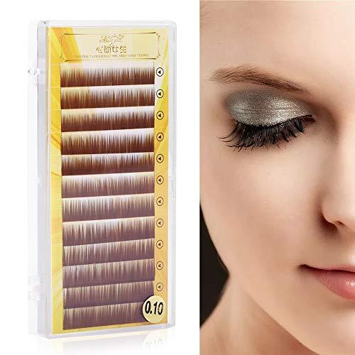 (Ruiqas False Eyebrow, Mixed Brown False Eyebrow Extension Fake Eyebrow Enhancer Individual Eyebrows 5-8mm)