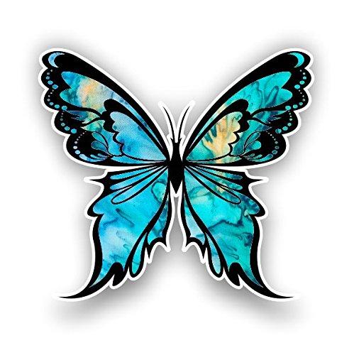 Monarch Butterfly sticker 14 custom color patterns (cyan - Cyan Design 14