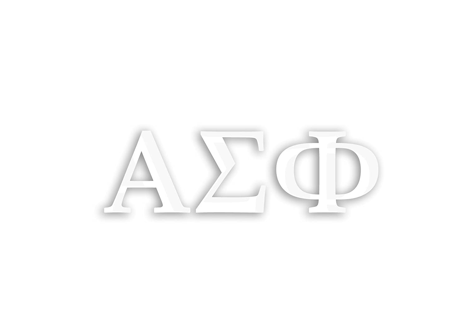 Officially Licensed Alpha Sigma Phi 8 x 3 Window Decal White