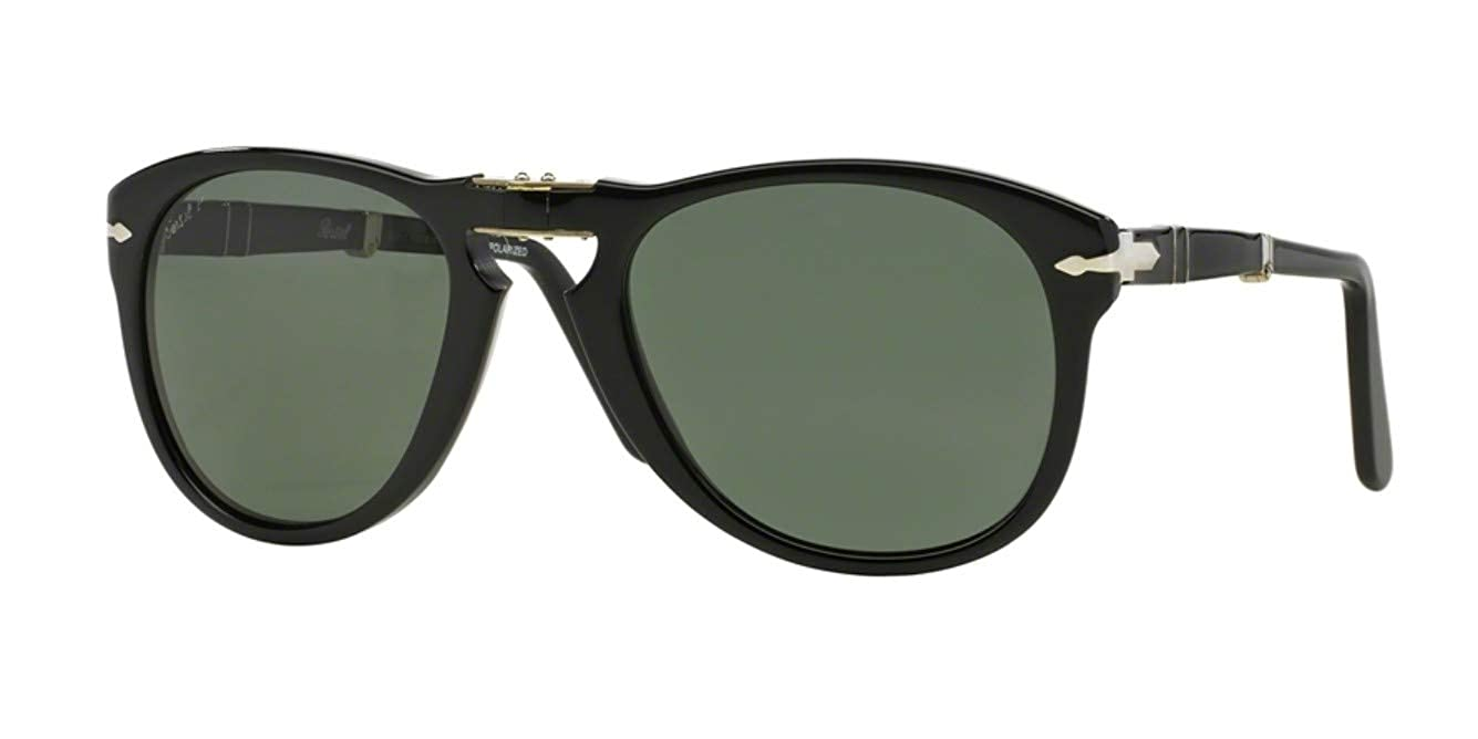 Persol Men/'s PO9714S PO//9714//S 1052//31 Madreterra Folding Pilot Sunglasses 52mm
