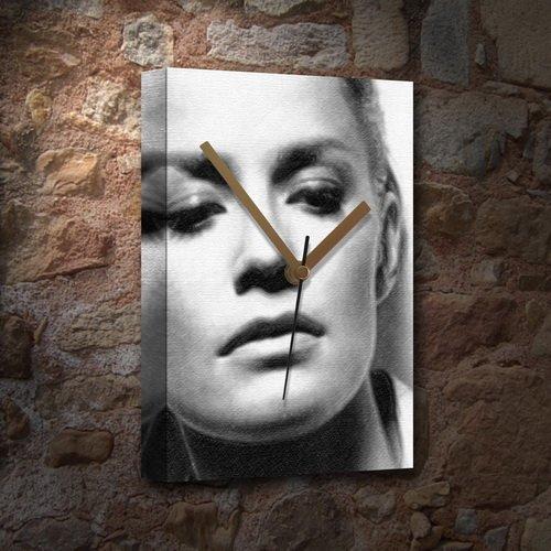 Seasons Elisabeth Shue - Canvas Clock (Large A3 - Signed by The Artist) #js005