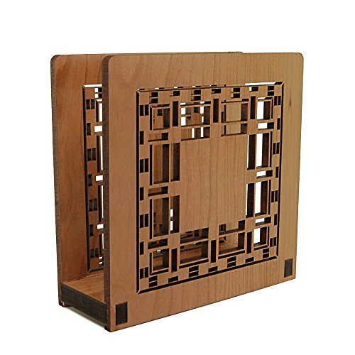 Frank Lloyd Wright D. D. MARTIN Design Laser Cut Wood Napkin Holder (Wright Holder Design Wood)