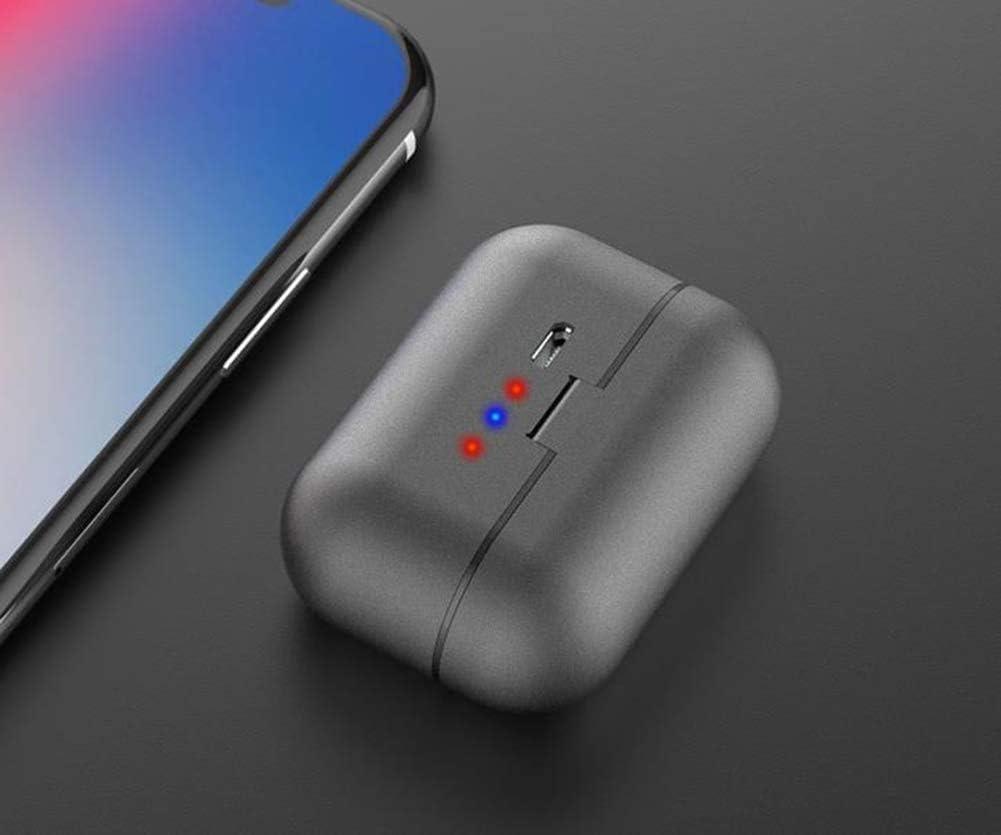 miwaimao Draadloze Bluetooth Oordopjes Onzichtbare Mini Hoofdtelefoon Oortelefoon Draadloze Sport Headsets, Opladen Case Gemakkelijk Draagbaar Signaal Zelfpassend Zwart