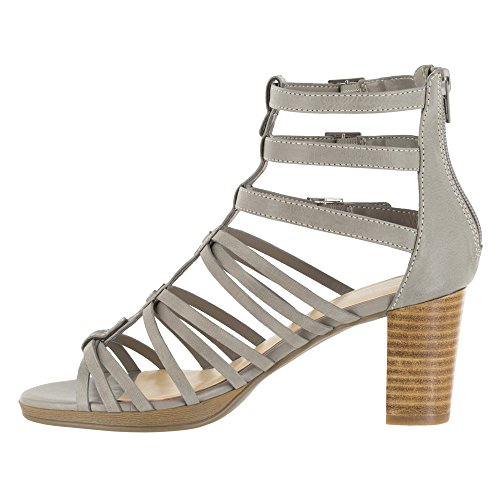 Bella Vita Women's Layne Gladiator Sandal, Black, 6 N US Light Grey