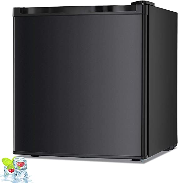 Kismile 1.1 Cu.ft Upright Freezer with Compact Reversible Single Door
