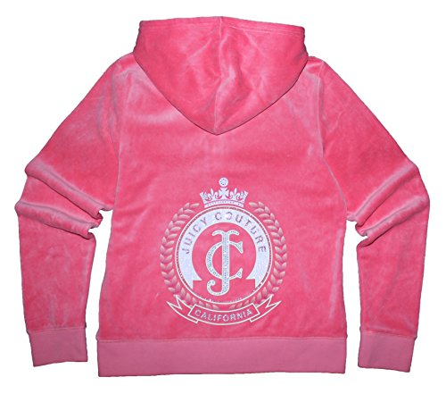 Juicy Couture Glitter Rhinestone (Juicy Couture Womens Fresh Watermelon 'JC' Laurel Velour Hoodie (Size)