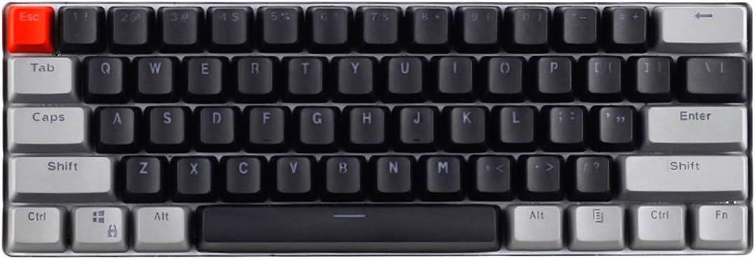 MXMYFZ 60% ANSI tecla Clave, 61 Llaves PBT MX Eje Retro ...
