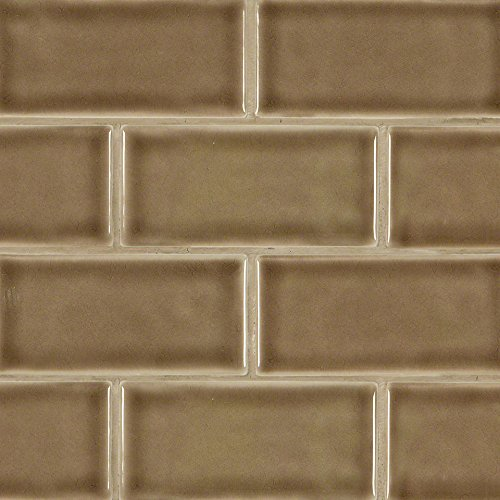 3 in. x 6 in. Artisan Taupe Glazed Handcrafted Subway Tile