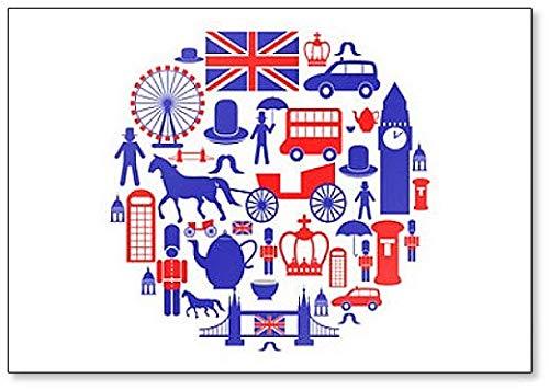 Imán para nevera con diseño de los iconos británicos: Amazon.es: Hogar
