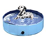 MAXTID Foldable Dog Pool, Portable Collapsible Pet Bathing and Swimming Pool Bathing Tub for Baby, Cats, Dogs (47x12 (L))