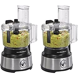 Hamilton Beach 10-Cup Food Processor, with Bowl Scraper (70730) 2 pack