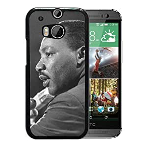 Beautiful Designed Cover Case With Martin Luther King Microphones Jacket Face Light For HTC ONE M8 Phone Case
