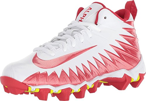 Nike Boy's Alpha Menace Shark (GS) Football Cleat White/University Red Size 5 M US
