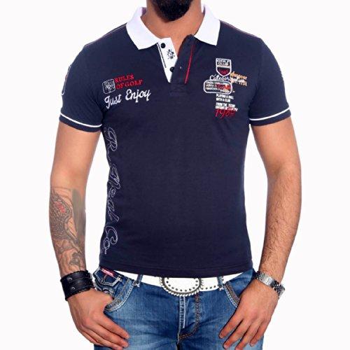 R-NEAL Poloshirt Herren Polohemd Polo Shirt Kurzarm Hemd T-shirt RTN-16688 Shirt, Größe:S, Farbe:Blau