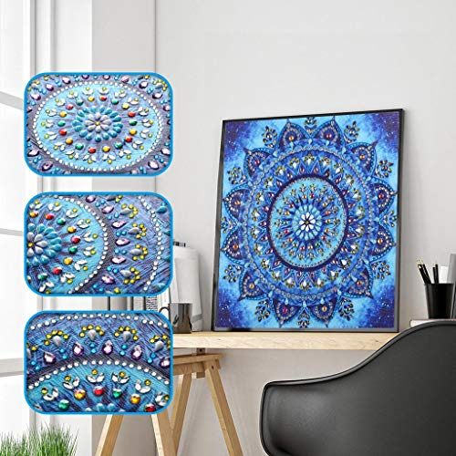 Allywit Diamond Painting, 5D Diamond Painting Kit - Colorful Petals - Special Shaped Diamond Painting Arts Craft for Home Wall Decor Gift DIY Painting by -