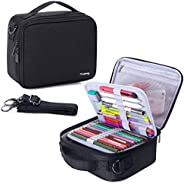Teamoy Colored Pencils Case, Travel Gadget Bag with Handle and Shoulder Strap, Stylish and Multi-Purpose, Perf