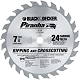 Black & Decker 77-737 Piranha 7-1/4-Inch 24 Tooth ATB Thin Kerf Crosscutting and Ripping Saw Blade with 5/8-Inch Arbor
