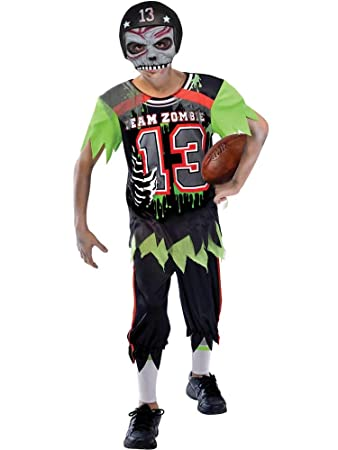 Boys Zombie American Footballer Costume Small 5 7 Years