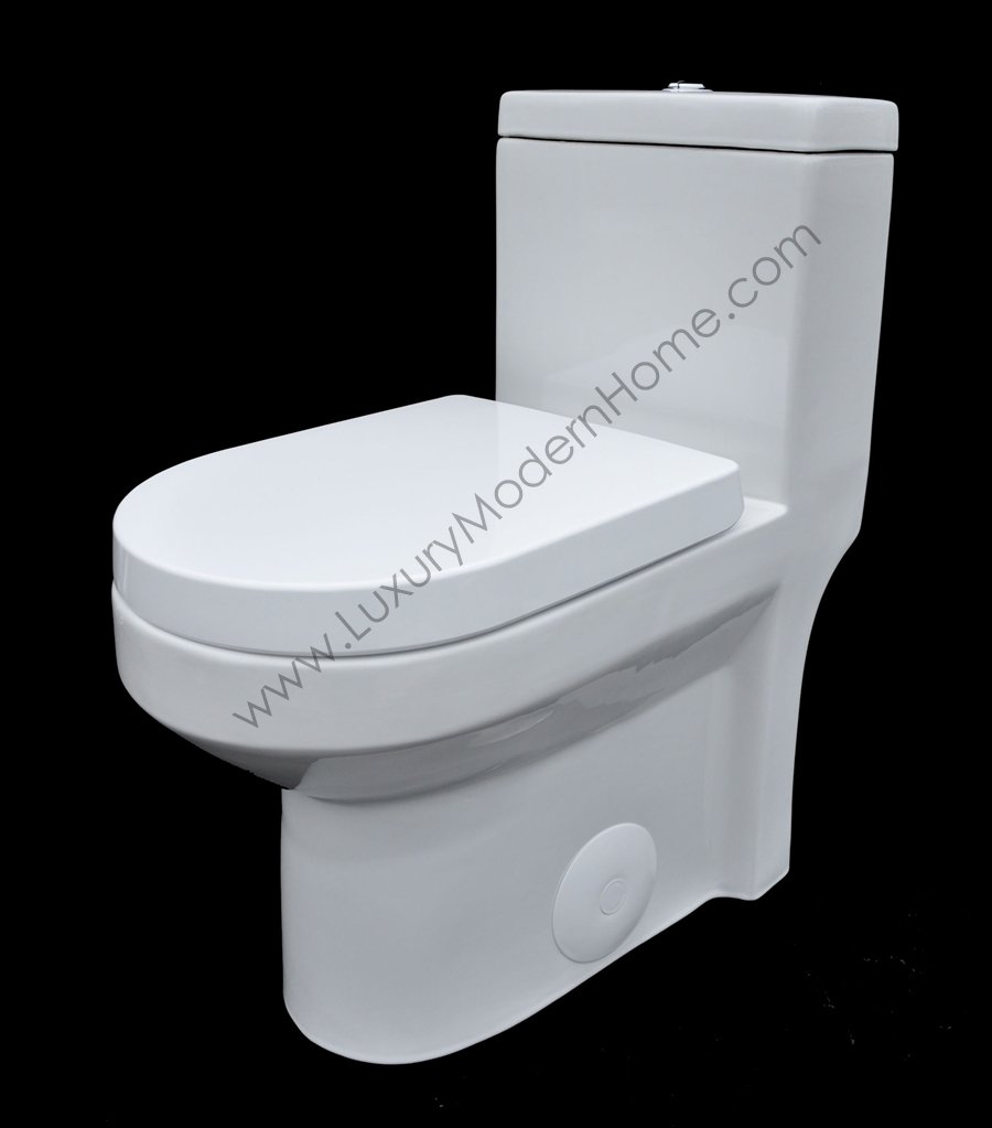 GALBA SMALL TOILET 24.5'' long x 13.5'' wide x 28.5'' high inch One Piece 24'' 25'' cUpc UPC Short Compact Bathroom Tiny Mini Commode Water Closet Dual Flush Shortest Projection elongated Concealed Trapway