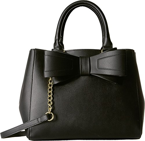 Betsey Johnson Women's Bow Satchel Black One (Betsey Satchel)