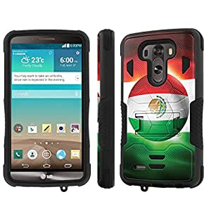 NakedShield LG G3 Case (Mexico WorldCup Flag) Armor Tough ShockProof Phone KickStand Case