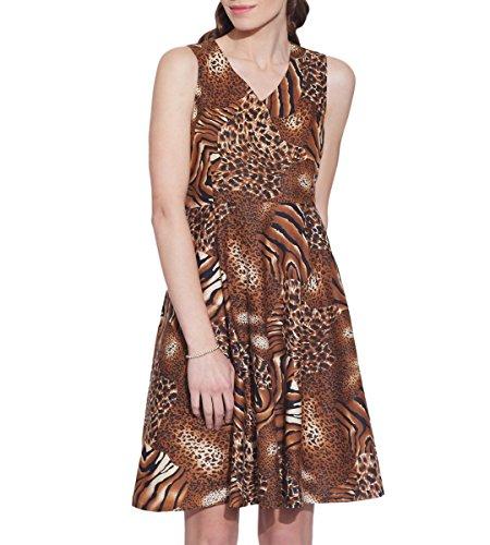 Vêtements pour femmes Robe en coton imprimé, lavable en machine, W-CPD36-1604, Taille-36 pouces