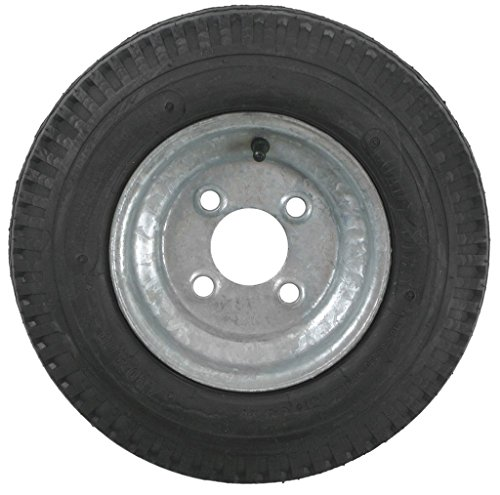 eCustomRim 2-Pack Trailer Tires On Galvanized Rims 480-8 4.80-8 4.80 x 8 Load C 4 Lug