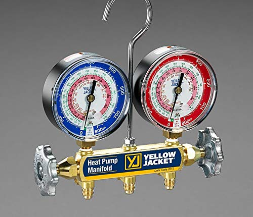 YELLOW JACKET 42044 Heat Pump Manifold with 3 Plus Ii Hoses