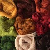 Merino Wool Tops - EARTH TONES - Pack of 9