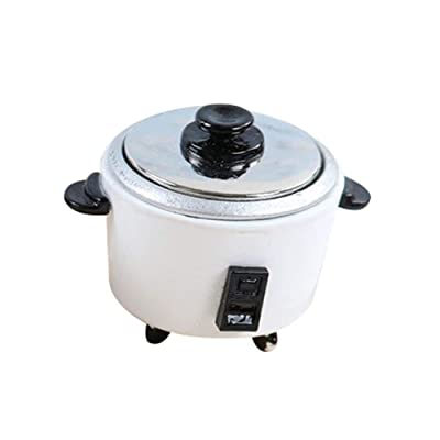 Aland Kitchen Appliances Toy, Simulation Rice Cooker Kids Toy DIY Miniature Doll House Kitchen Accessory for Toddlers White: Toys & Games