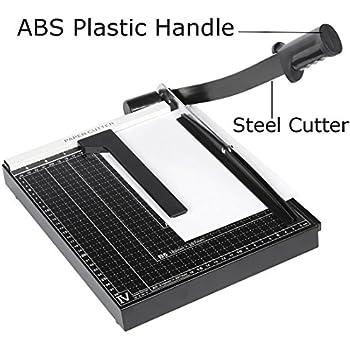 Oanon 12 Inch A4 Steel Heavy Duty Professional Paper Cutter Guillotine Paper Trimmer Machine Black (A4, B5, A5, B6, B7)