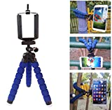 CELLer(TM) Creative Design for Lazy Guys Universal Octopus Style Portable and Adjustable Tripod Stand (Blue) with Mount / Holder for Smartphone including iPhone 6 Plus iPhone 6 5C 5S iPad Samsung Galaxy Note 4 3 2 S5 S4 (Blue)
