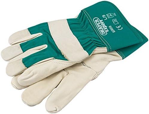 Draper Expert Mens Premium Quality Heavy Duty Leather Gardening Gloves X Large