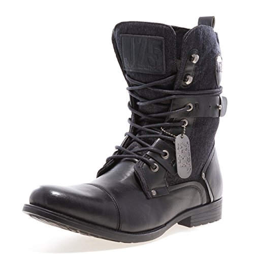 Jump J75 Mens Deploy Lace-up Ankle Cap Toe Boots Black 8 Medium (D) by Jump