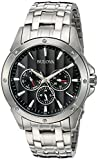 Bulova Men's 96C107 Black Dial Stainless Steel Watch