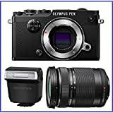 Olympus PEN-F Mirrorless Micro Four Thirds Digital Camera (Body) [Black] + Olympus M.Zuiko ED 14-150mm f/4-5.6 II Lens