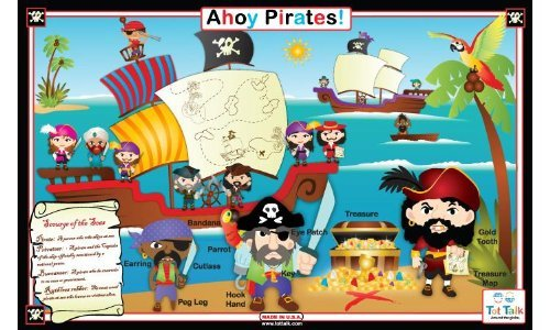 Tot Talk Ahoy Pirates Placemat