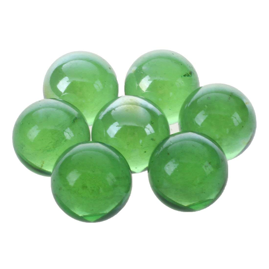 Tcplyn Premium Quality Glass Marbles - 10 Pcs Marbles 16mm Glass Marbles Knicker Glass Balls Decoration Color Nuggets Toy Green by Tcplyn (Image #4)