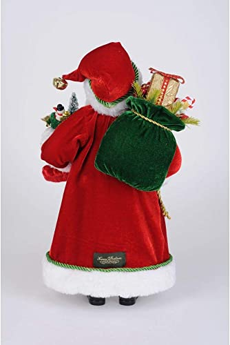 Karen Didion Originals Stocking Santa Figurine, 17 Inches – Handmade Christmas Holiday Home Decorations and Collectibles