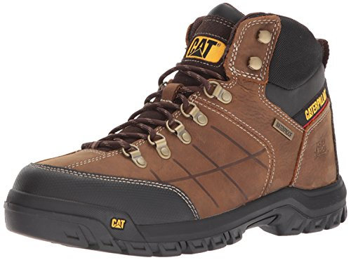 Caterpillar Men's Threshold Waterproof Construction Boot Real Brown 7.5 M US (Best Construction Boots For Men)