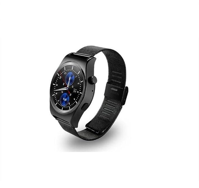 Smart Watch Monitor de frecuencia cardíaca Podómetro Full Circle Steel Band Función de Negocios Bluetooth Reloj