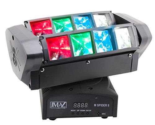 JMAZ M Spider 8 Moving Head Light RGBW LED DMX512 For Stage Light Disco DJ Church Wedding Party Show Live Concert Lighting